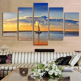 Wholesale Cm Pictures - Hot Selling Wholesale 50 * 100 cm sitting room adornment bedroom prints immovable sea sunset picture core that hang a picture