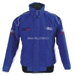 Wholesale Gps For Motorbikes - Wholesale- for man Winter moto GP Ford jacket motorcycle motorbike biker clothes auto driver cotton fashion coats