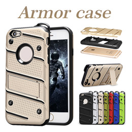 Wholesale rubber packaging - For iPhone X 8 Rugged Armor Case Hybrid Rubber Cases For Samsung Galaxy Note8 S8 Dirt-resistant Kickstand Cases With OPP Package