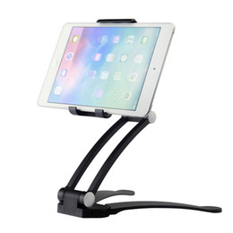 Wholesale Ipad Mini Cradle - Universal Gooseneck Tablet Desk Mount Holder Stand Cradle 2 in 1 Tablet Holder Kitchen Mount Wall Mount for ipad Air   mini