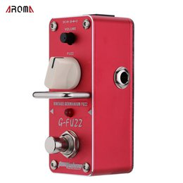 Wholesale Pedals Vintage - AROMA AGF-3 G-FUZZ Vintage Germanium Fuzz Guitarra Effect Pedal Mini Analogue Guitar Effect Pedal with True Bypass