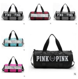 Wholesale Luggage Canvas Bags - Canvas Secret Storage Bag organizer Large Pink Men Women Travel Bag Waterproof Victoria Casual Beach Exercise Luggage Bags