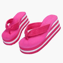 Wholesale Wholesale High Heel Slippers - Wholesale-Brand new Summer Style women sandals 2016 Women Platform Beach Slippers Flip-flops High Heel