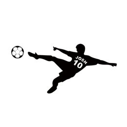 Wholesale Names Stickers - Football Wall Sticker Personalized Name & Number Soccer Ball Poster Vinyl PVC Decal Art Children Wall Stickers Kids Room Decor DIY