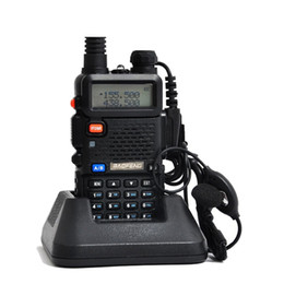 Wholesale Baofeng Vhf Uhf 5r - Best Price Baofeng uv 5r Walkie Talkie 5W Portable Radio Set UHF&VHF Retevis RT5R 136-174MHz&400-520MHz Radio Comunicador A7105A