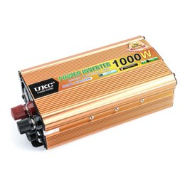 Scheda di alimentazione 12v online-Commercio all'ingrosso- Inverter per auto 1000 W 12V 220 V DC 12 v per AC 220 v interruttore di alimentazione per veicoli caricabatterie integrato convertitore adattatore convertitore CY177-CN