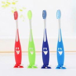 Wholesale Mouth Teeth Smile - 4 Pcs Lot Kids Tooth Brush Soft Bristle Oral Hygiene Mouth Clean Children Training Soft Toothbrush Catoon Smile Kid Toothbrush