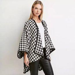 Wholesale Plus Size Fur Shawl - Lattice Cloak White Black Wrap Over Coat Fashion Elegant Plus Size Shawls Scarves SUmmer Winter Topcoat Party Beach A131