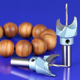 Wholesale Drilling Milling Cutter - 5 pieces Milling Cutter Router Bit Buddha Beads Ball Knife Woodworking Tools Wooden Beads Drill Fresas Para CNC