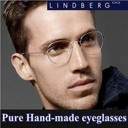 Wholesale Spectacle Frames Light - 2016 brand Lindberg Jorn metal frame glasses men rimless frame ultra light spectacle frame can be processed myopia lens