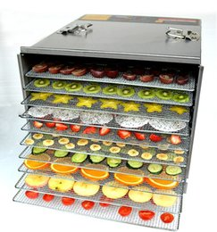 Wholesale Commercial Fishing - free shipping 220V 10 layers Commercial Stainless Steel Fruit Dehydrator Machine Fruit Vegetable Meat Herbal Tea Fish Dryer Food Processor