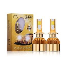 Wholesale H4 Color - Two color H4 H7 9005 HIB3 H11 Car styling LED Headlight Bulb 9006 H1 H3 9012 Auto Headlamp Kit 880 DRL light 9600lm