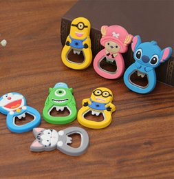 Wholesale Kawaii Magnets - Kawaii Cartoon Kitty Cat Stainless Steel Beer Bottle Opener with Magnet can be Fridge Magnet.Wine Opened.Free shipping TT313