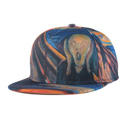 Wholesale Dragon Caps - Fashion Cool Unisex Mens Womens Adjustable Baseball Cap Snapback Hip Hop Hats 3D Print Fashion Mens Painting Caps Dragon Eyes High Quanlity
