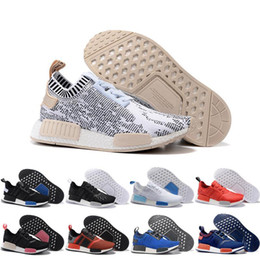 Wholesale Nice Winter Men - 2017 Wholesale Discount NMD Runner R1 Primeknit Nice Kicks Circa Knit Black Men Women Running Shoes Sneakers Classic Super Star Casual Shoes