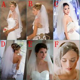 Wholesale Veil Short Lace Comb - White   Ivory Lace Applique Wedding Veil Tulle Short Bridal Veils Cheap Birdcage Veil With Comb In Stock