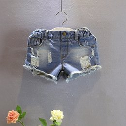 Wholesale Baby Girl Denim Jeans Short - Kids Denim Shorts Summer Girl Shorts Baby Clothing Children Casual Pants Fashion Short Jeans Kids Wear