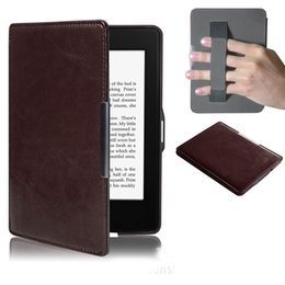 Wholesale Color Kindle Cases - Wholesale-New Elegant Kindle Paperwhite Case Super Slim PU Cover Case of Kindle Paperwhite Case of Solid Color Kindle Paperwhite 3 2 and 1