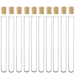 2019 tubi di prova in plastica All'ingrosso- Provetta in plastica con sughero 20x150 mm da 6 pollici 34ml Clear Pack 20, bomboniera bomboniera bomboniera, taglia unica sconti tubi di prova in plastica