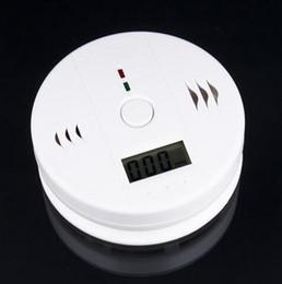 Wholesale Wholesale Security Doors For Home - High Sensitive Digital LCD Backlight Carbon Monoxide Alarm Detector Tester CO Gas Sensor Alarm For Home Security Safety White