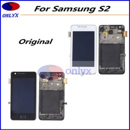 Wholesale New Lcd For S2 - Free Shipping Original New For Samsung Galaxy S2 i9100 LCD Display Touch Screen Assembly Digitizer With Bezel Frame