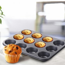 Wholesale Wedding Cupcake Pan - 12-Cup Nonstick Muffin Cupcake Pan Baking Tray for Party Wedding Birthday- Black