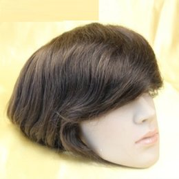 "Wholesale Thin Lace Wigs - #1#1b#2#3#4 Top quality Brazilian hair mens toupee Super Durable and Super Thin Skin toupee 7""X9"" base size for your choice"