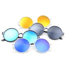 Wholesale Hq Mix - Wholesale- HQ 2017 New Fashion Personality Unisex Sunglasses,Multicolor Lens Trendy Women Men Accessories,Round Glassess XHH04384