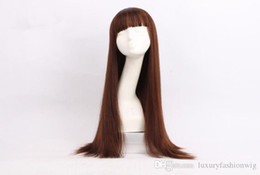 Wholesale Custom Indian Lace Wig - Good Quality Full Lace Wigs Density Of 150% Color #33 European Hair 100 % Can Design Custom Ms White Americans Beautiful Fashion Wigs Kabell