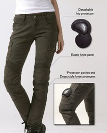 Wholesale Motorcycle Pants Women - Free shipping UGLYBROS MOTORPOOL-G Stained Olive Women Jeans Motor Pants Lady Casual motorcycle riding pants Skinny Trousers