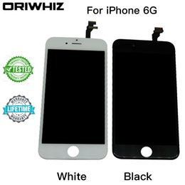 Wholesale Best Digitizer - Real Picture Best Quality For iPhone 6 LCD Display Touch Screen Digitizer Assembly No Dead Pixel Black & White color Free DHL Shipping