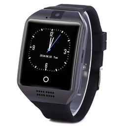 Wholesale Women Watches Used - 1PCS Q18 Bluetooth Smart Watch Phone with 0.3M Camera MTK6261D Smartwatch for android phone Micro Sim TF card Men Women Watch