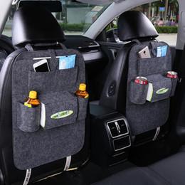 Wholesale Organizer Hanger - Insulation Work Style Auto Car Seat Organizer Sundries Holder Multi-Pocket Travel Storage Bag Hanger Backseat Organizing Box 170505