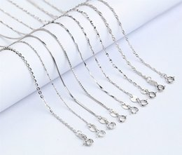 Wholesale Wholesale Sterling Silver Body Chain - Wholesale 925 Sterling Silver Necklaces Slim Thin Snake Chains Necklace Women Body Chain Kids Girls Jewelry