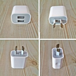 Wholesale Apple Iphone Interface - Dual interface 5v 2a AU  US plug usb charger power travel ac adapter for iphone Other smart phones