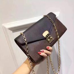 Wholesale Purple Heart Purse - 2017 Free shipping! Orignal leather fashion famous chain shoulder bag handbag evening bag holder purse mini package messenger felicie.