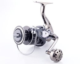 Wholesale China Gear - 12+1BB Spinning Fishing Reel Saltwater DE2000-7000 Series Full Metal Body Smooth China Fishing Wheel Gear Ratio 5.2:1