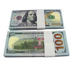 Wholesale Sheet For Children - Earliest edition Money banknote USD100 for props and Education bank staff training paper fake money copy money children gift