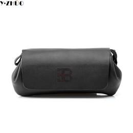 Wholesale Unique Wallet Chains - Wholesale- Unique design brand genuine leather bag High quality Business Casual men clutch bag Cowhide handbags Long wallets purses