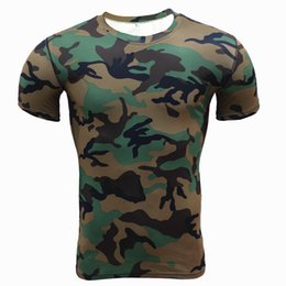 Wholesale Camo T Shirts Wholesale - Wholesale- Camouflage Men's T-Shirt 2017 Summer New Fashion Casual Short Sleeve Cotton Tee Shirts Male Tops Camo Print Tshirt homme