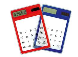Новая мода сенсорный экран электронный калькулятор мини прозрачный солнечной энергии 8 цифр кредитной карты бесплатная доставка от