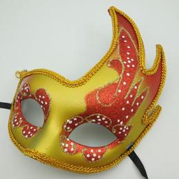 Trajes de dança pavão on-line-Luxo do partido do disfarce do pavão máscara de Halloween Costume Metade Hip Hop Dance Rosto Máscara decoração máscara Venetian sexy da mulher