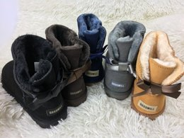 Wholesale Round Box Bow - new classic Women's winter boots UG Australia Women Mini Bailey Bow Boot outdoor snow boots Yellow Boots size us 5-12 brand NO BOX