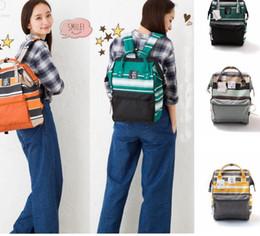 Wholesale Waterproof Rucksack Laptop - Stripe Japan Unisex Backpack Rucksack Diaper Outdoor Travel Bags Waterproof Shoulder Bags Stripe Rucksack Laptop Bags Organizer KKA2634