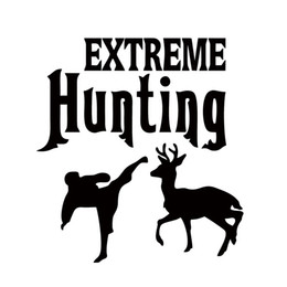 Wholesale Hot Bumper Stickers - Hot Sale Car Sticker Extreme Hunting Bumper Deer Vinyl Funny Car Styling Decorations Jdm