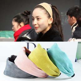 Wholesale Suede Headbands - Best gift Cloth wide edge hoop high hair hoop suede hair band hoop TG190 mix order 30 pieces a lot