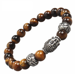 Wholesale Natural Jade Jewelry Set Green - hot sale fashion stainless steel jewelry titanium steel religious bright Natural onyx black Agate Jade beads bracelet