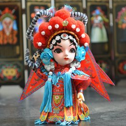 Wholesale Embroidery Decorations Ornament - Chinese Traditional Crafts Beijing Cloth Doll Folk Crafts Beijing Opera Mask Decoration To Send Friends Souvenirs Gifts
