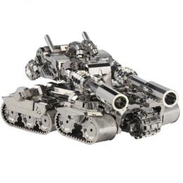 Wholesale 3d Puzzle Tank - Wholesale Picture Kingdom 3D Metal Puzzle Apocalypse Tank Model PJ-199 DIY 3D Laser Cut Jigsaw Toys