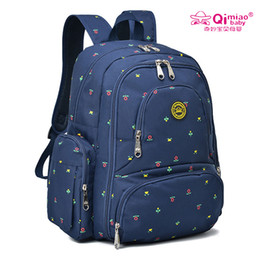 Wholesale Boy Diaper Bags - FEELING WELL QIMIAO Baby 16 Pockets Waterproof Oxford Fabric Diaper Bag Travel Backpack with Changing Pad